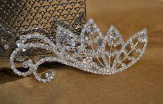 Wedding Rhinestone Feather Comb, Bridal Rhinestone Feather Hair clip, Elegant Formal Rhinestone Barrette Hair Clip on Etsy, $14.99