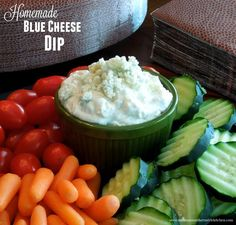 Blue Cheese Dip - This homemade blue cheese dip is what I serve with ...