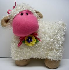 Shop for on Etsy, the place to express your creativity through the buying and selling of handmade and vintage goods. Chenille Crafts, Pillow Ideas, Best Pillow, Animal Pillows, Kids Bedroom, Nursery Decor, Kids Toys, Lamb, Crochet Hats