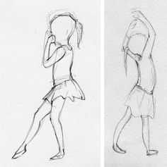 To make-Linda Olafsdottir - Illustration & Fine art: Sketches of little ballerinas- want to make!