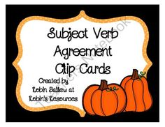 FREE! These 30 cards address subject/verb agreement with verbs is, am, are, was, were, has, have, and had. The vocabulary is controlled for struggling readers. Though designed as clip cards, the cards are numbered and a recording sheet is included so it could be used as a scoot game as well.