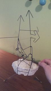 Kinetic sculpture by unknown artist. #wire #rock #steel #movement #video