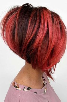 Straight Stacked Bob Are you sick and tired of a. Short Hair Cuts, Short Hair Styles, Short Stacked Bob Haircuts, Red Bob Hair, Bob Hair Color, Magenta Hair Colors, Hair Specialist, Beautiful Red Hair, Bob Hairstyles