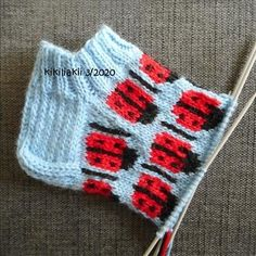 leppissukat ohje - the pattern of a ladybug socks - Kikiliakii neuloo - Vuodatus.net - Knitting Videos, Ladybug, Socks, Blanket, Crochet, Pattern, Patterns, Sock, Ganchillo