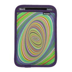 Psychedelic ellipse sleeve for iPad mini $50.80 *** Abstract digital psychedelic ellipse fractal design - iPad sleeve