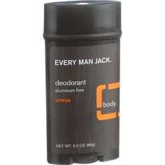 Every Man Jack Body Deodorant - Citrus - Aluminum Free - 3 Oz
