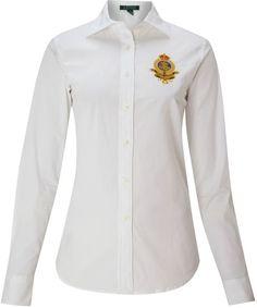 98563b2a045ec Alie Long Sleeve Shirt with Crest - Lyst Lauren White