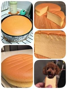 Condensed milk cotton cheesecake