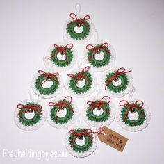 Kerstkransjes gehaakt Christmas Xmas Wreaths crochet