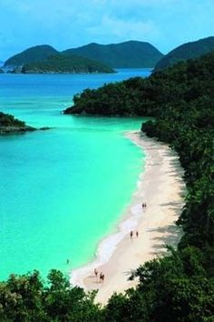 Trunk Bay Beach in St. John, US Virgin Islands