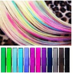 I have to get some hair chalk for those days when my inner pre-teen wants to come back to life.  How fun!