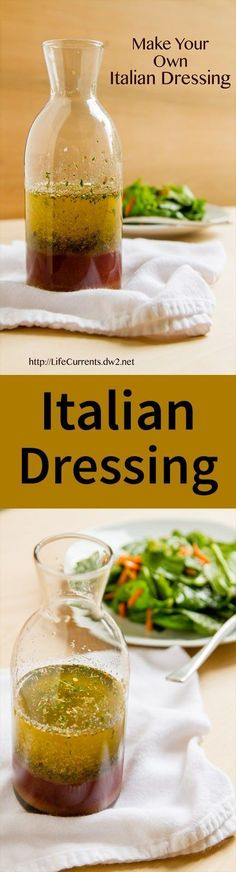 Make your own Italian Dressing and the Italian Dressing Mix. Make your own Italian Dressing and the Italian Dressing Mix makes a great homemade Christmas gift! Healthy Salads, Healthy Eating, Healthy Recipes, Garlic Recipes, Italian Dressing Mix, Spicy Italian Dressing Recipe, Italian Dressing Marinade, Homemade Dressing Recipe, Homemade Italian Dressing