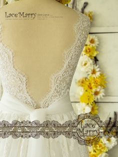 Trendy Lace Wedding Dress in Bohemian Style from Soft Tulle and French Lacy Applique Lacy Wedding Dresses, Wedding Dress Styles, Wedding Gowns, Lace Wedding, Bohemian Beach Wedding, Bohemian Style, Boho, Bride Look, French Lace