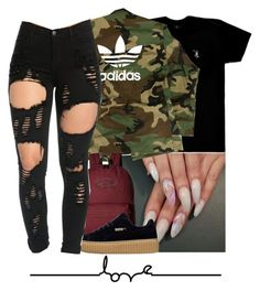 """""""I love this"""" by liveitup-167 ❤ liked on Polyvore featuring October's Very Own, adidas and Vans"""
