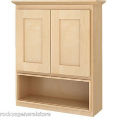 Bathroom Vanity Wall Cabinet Above Toilet Over The John Natural Maple Shaker New