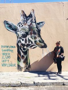 Checking out the street art in Woodstock - one of my favourite suburbs in Cape Town, South Africa