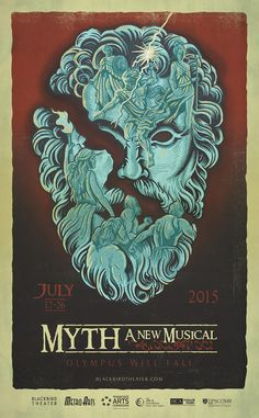 Blackbird Theater presents the world premiere of our new musical MYTH, July 17-26 in the theatre at Hillsboro High. Tickets on sale at http://blackbirdtheater.com.