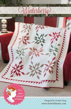 November 2015 Monthly Picks! It's sew Emma! Winterberry Quilt Pattern. xx