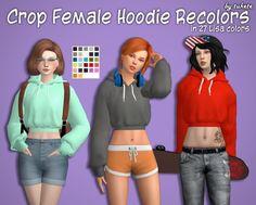 Tukete: Crop Hoodie Recolors • Sims 4 Downloads