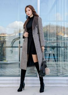 Korean Fashion Dress, Ulzzang Fashion, Korean Street Fashion, Kpop Fashion Outfits, Girls Fashion Clothes, Winter Fashion Outfits, Korean Outfits, Asian Fashion, Modest Fashion