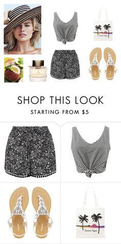 """""""Summer.."""" by leagoo ❤ liked on Polyvore featuring New Look, WithChic, Dune, Forever 21 and Burberry"""