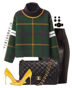 """""""Untitled #1430"""" by visionsbyjo ❤ liked on Polyvore featuring Dsquared2, Chanel, Sergio Rossi, Givenchy, Larsson & Jennings, women's clothing, women's fashion, women, female and woman"""