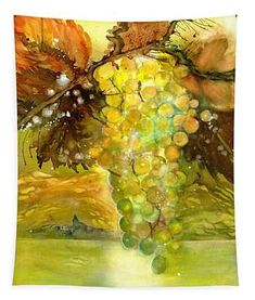Chardonnay Grapes in sunlight Tapestry by Sabina Von Arx Claude Monet, Vincent Van Gogh, Vegetable Painting, Poster Prints, Art Prints, Posters, Autumn Lights, Paul Klee, Wassily Kandinsky