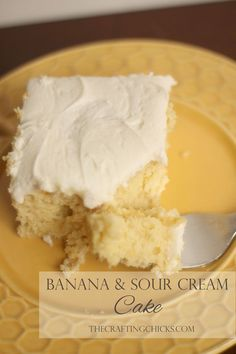 Banana Sour Cream Cake (via Bloglovin.com )
