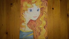 Merida from Brave Made with watercolor in a special canvas.