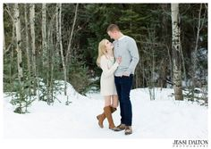 A winter engagement shoot at Golden Gate Canyon State Park in Colorado by Jessi Dalton Photography | Snowy Engagement | www.jessidalton.com