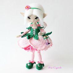 Знакомьтесь - Эстэльэль, она самая настоящая фея  и  у нее есть волшебная пыльца!  Каркасная кукла. Итальянский хлопок. Рост 18 см . Дом нашла 🏡  _________________________________ #эльфы