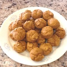 5 calorie pumpkin mini muffins: 1 box of spice cake mix 1 can of 100% pure pumpkin (15oz) mix ingredients. bake at 350 for 15 minutes. makes 48 mini muffins