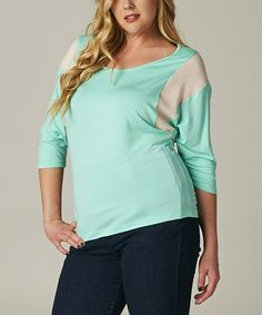 Another great find on #zulily! Teal Sport Scoop Neck Top - Plus #zulilyfinds