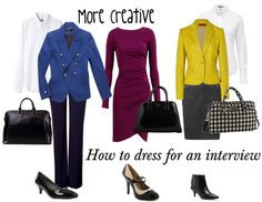 How dress for a more creative job interview? Here are my tips for more conservative and creative jobs.