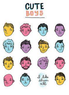 Cute boys by Katie Turner