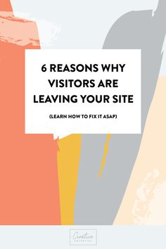 Learn why visitors are leaving your site. SEO Tips | Website Help | Small Business Website