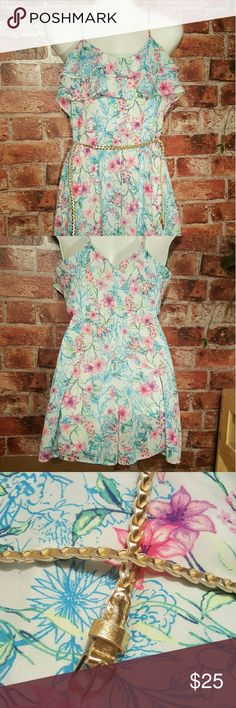 Beautiful floral romper for girls Beautiful floral romper for that cute fashionista. Brand new without tags. Girls size 9. Make an offer ladies Candie's Dresses Casual