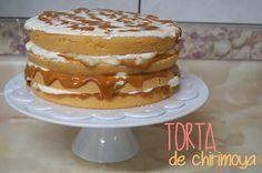 Un Dulce Escape: Torta de chirimoya, manjarblanco y chantilly.