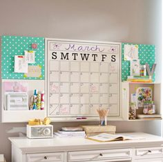 From Pottery Barn...but could make an easy office DIY