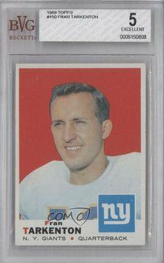 Fran Tarkenton BVG GRADED 5 New York Giants FB (Football Card) 1969 Topps #150 by Topps. $14.00. 1969 Topps #150 - Fran Tarkenton BVG GRADED 5