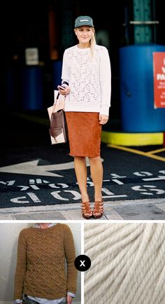 Knit the Look: Mary Kate Steinmiller's lace-front jumper