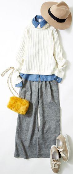 好感度高めにワイドパンツを着こなすには? ルミネ横浜のアイテムを使った、冬のマンネリを脱するフレッシュなコーディネートをご紹介。人気スタイリスト入江未悠さんが「大人かわいい」をテーマに、上品でまねしやすいスタイリングを提案します!
