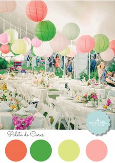 Wedding decor, citric colors, color pallet