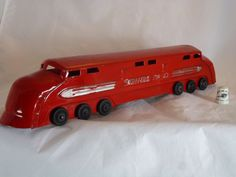 "Toy Train, Rare Stafford ""Double-Ended"" Diesel, Pull Toy, Art Deco from gentlemensantiques on Ruby Lane"