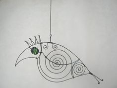 Wire Sculpture Parrot Mobile Decor by MyWireArt on Etsy