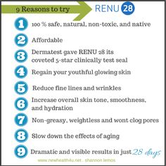 The Magic Potion Is In The Tube .. Do YOU Renu? RENU 28 powered by ASEA ... the ultimate in skincare www.newhealth4u.net