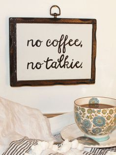DIY Hand Lettering Coffee Sign