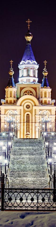 Church in Khabarovsk, Siberia, Russia.