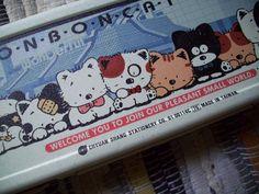 Bon Bon Cat Pencil Box. 80s Kawaii Pencil Case. Back to School. GVS, VC team