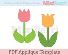 Applique Template Tulip